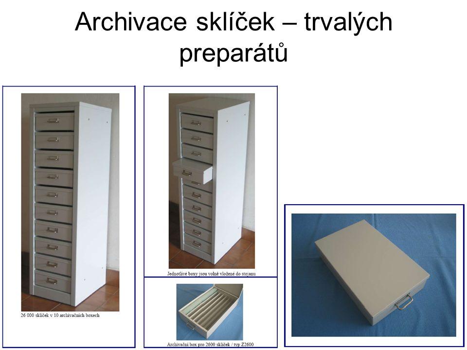 Archivace sklíček – trvalých preparátů