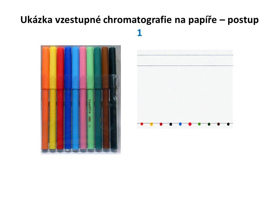 Ukázka vzestupné chromatografie na papíře – postup 1