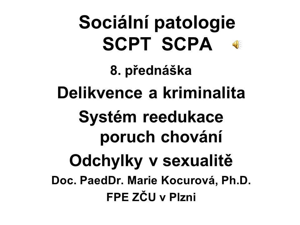 Sociální patologie SCPT SCPA 8.