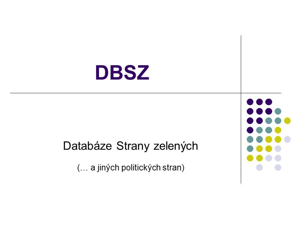 DBSZ Databáze Strany zelených (… a jiných politických stran)