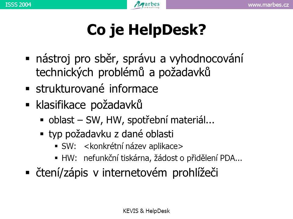 www.marbes.czISSS 2004 KEVIS & HelpDesk Co je HelpDesk.