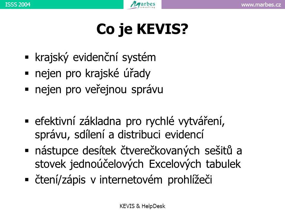 www.marbes.czISSS 2004 KEVIS & HelpDesk Co je KEVIS.