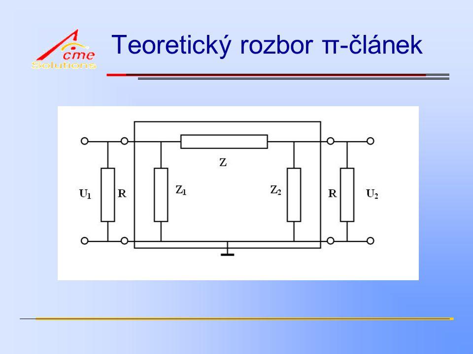 Teoretický rozbor π-článek