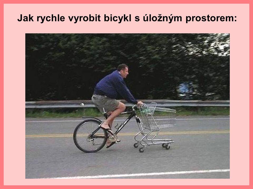 Jak rychle vyrobit bicykl s úložným prostorem: