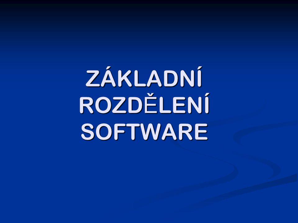 Software = programové vybavení