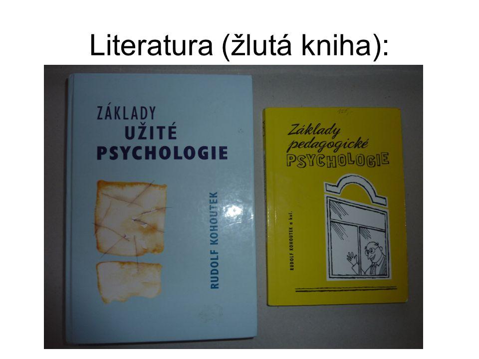 Literatura (žlutá kniha):