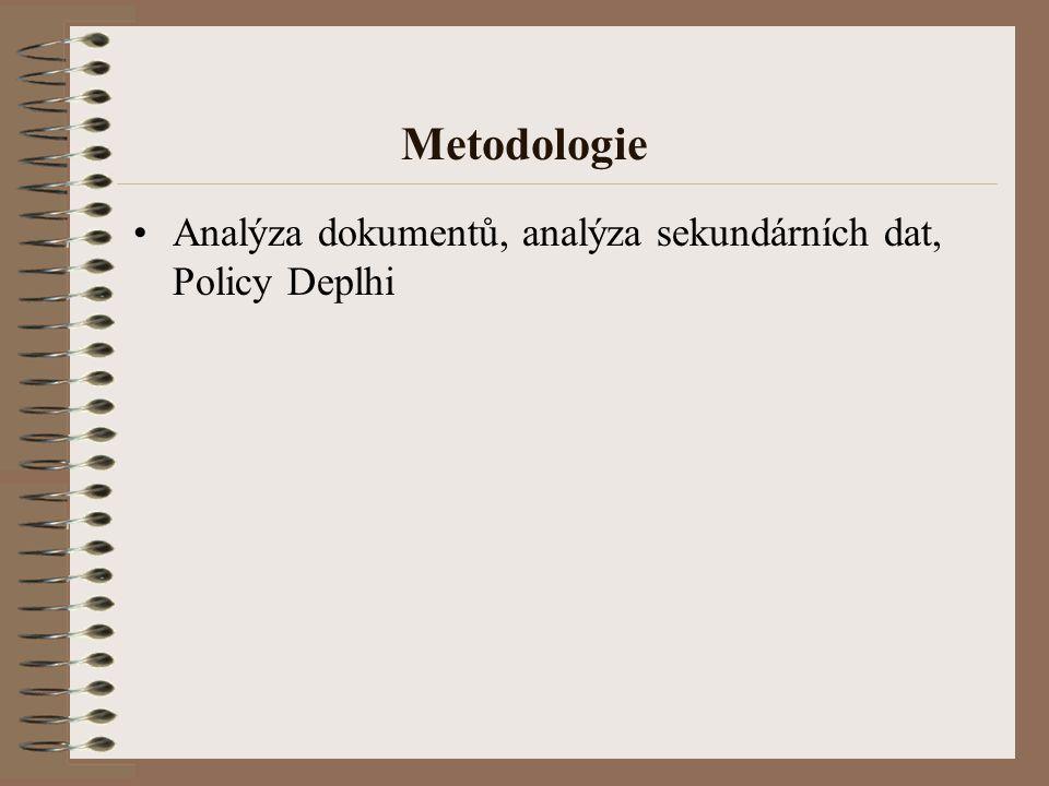 Metodologie Analýza dokumentů, analýza sekundárních dat, Policy Deplhi