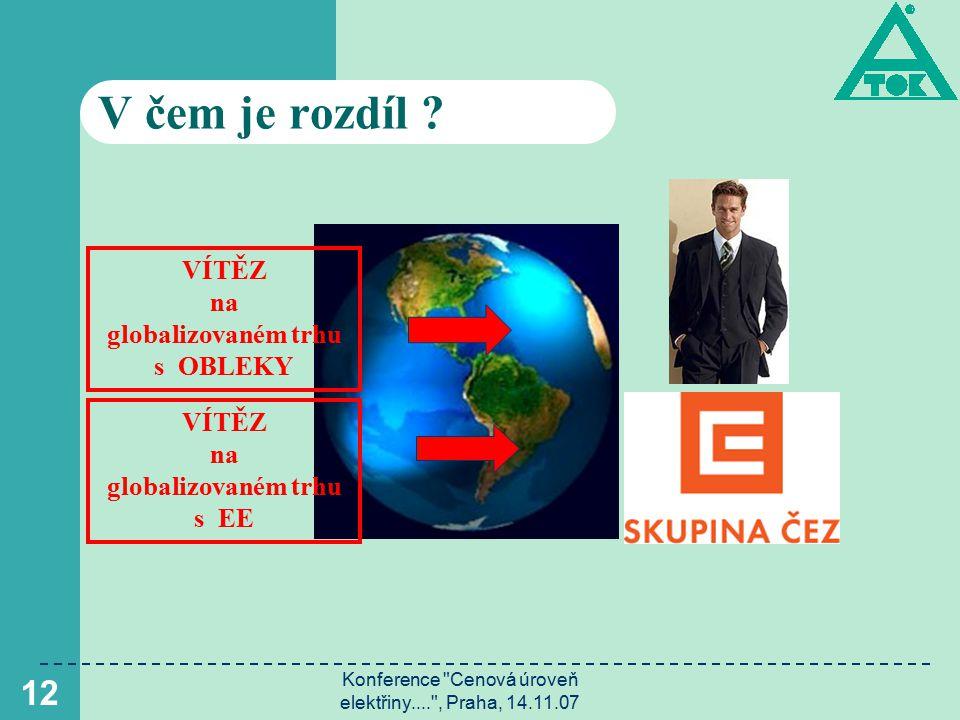 Konference Cenová úroveň elektřiny.... , Praha, 14.11.07 13 Jak dál .