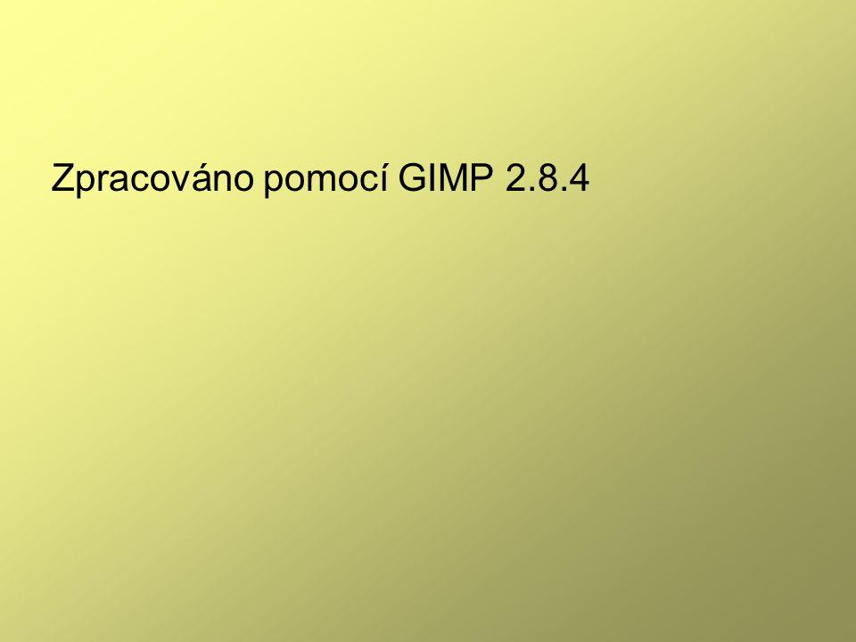 Zpracováno pomocí GIMP 2.8.4