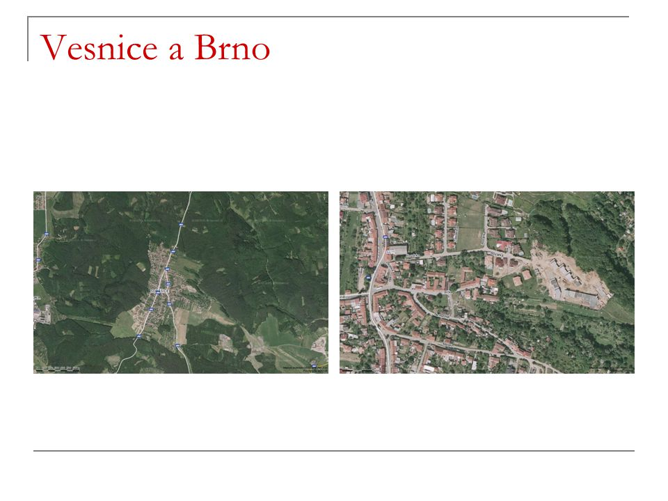 Vesnice a Brno