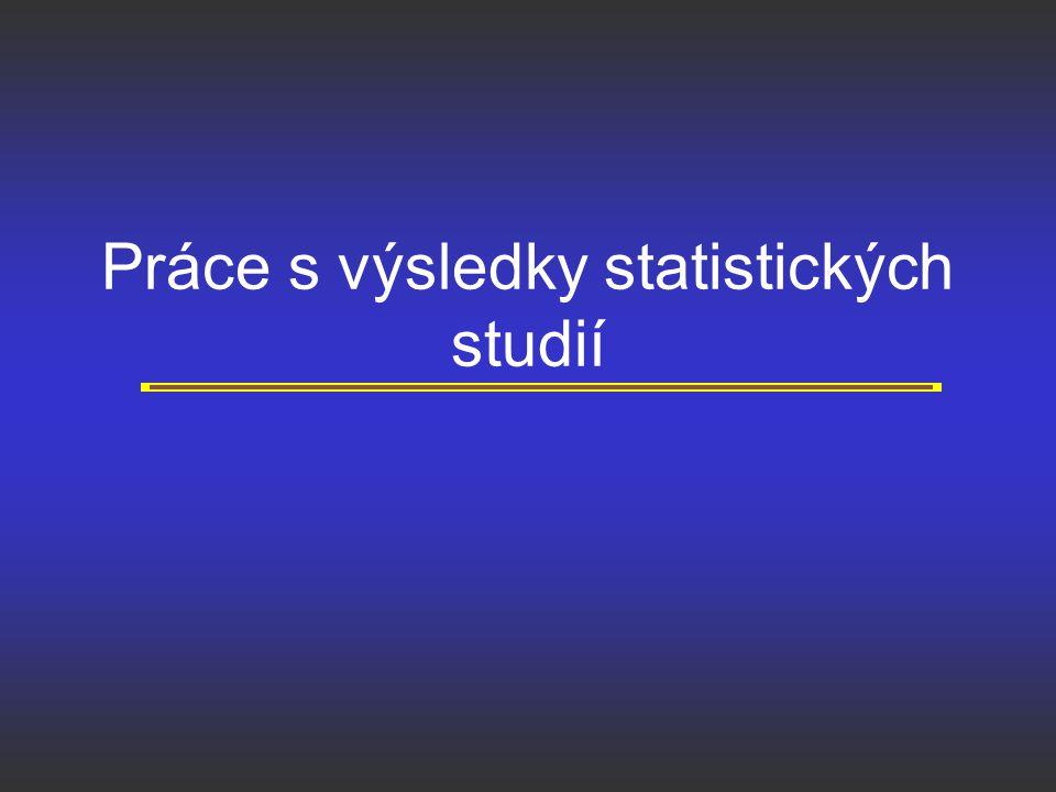 Práce s výsledky statistických studií