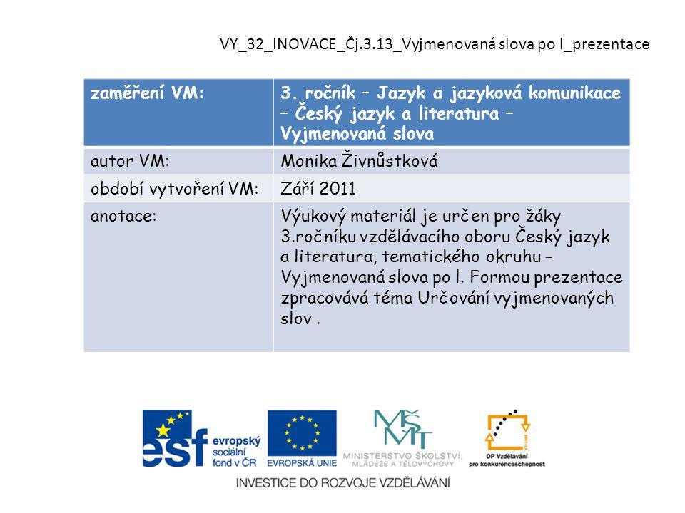 zaměření VM:3.