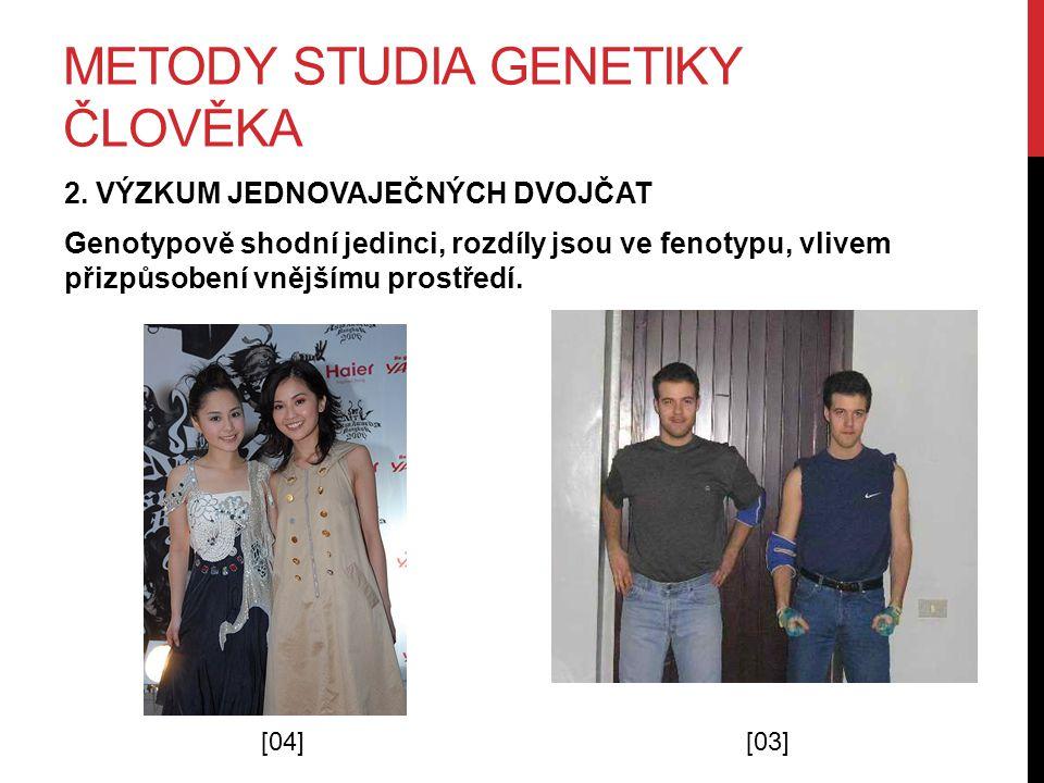 METODY STUDIA GENETIKY ČLOVĚKA 2.