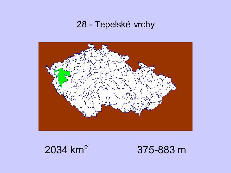 28 - Tepelské vrchy 2034 km 2 375-883 m