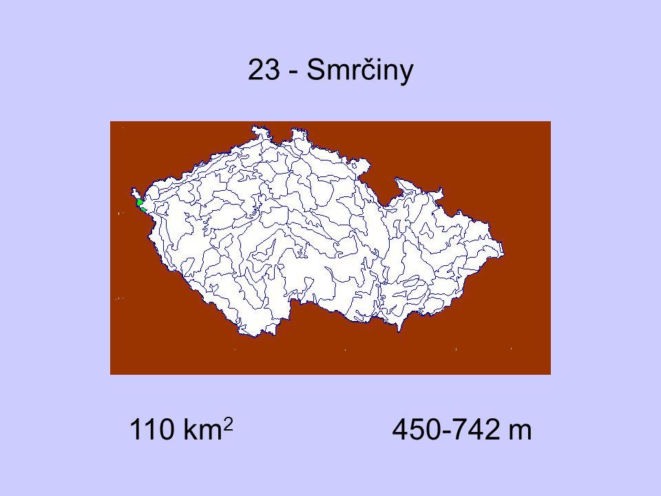 33 - Branžovský hvozd Přírodní podmínky suprakolinní až submontánní stupeň paleovulkanity (spility), proterozoikum (břidlice), amfibolity převaha lesa nad bezlesím skalnatá stanoviště vzácná Významné lokality Běleč, Netřeb, Herštýn dubohabřiny květnaté bučiny, jedliny a suťové lesy vzácně otevřené sutě Dentaria enneaphyllos, Lunaria rediviva, Hepatica nobilis, Festuca altissima, Arum maculatum, Taxus baccata, Anthericum liliago, Vincetoxicum hirundinaria, Polygaloides chamaebuxus