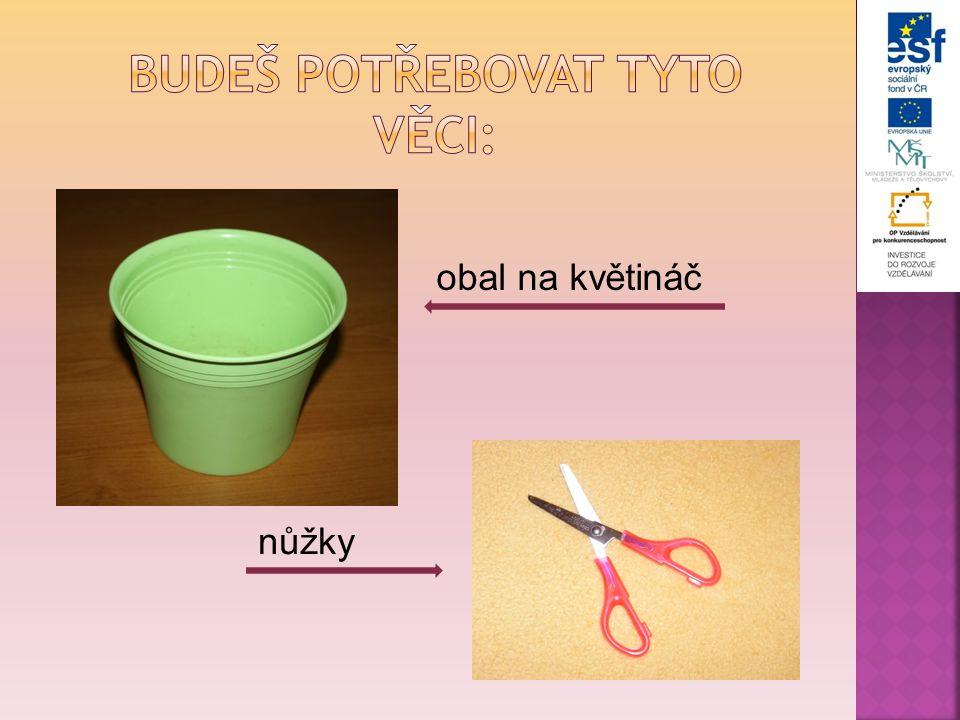 obal na květináč nůžky