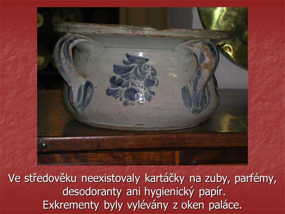 Ve středověku neexistovaly kartáčky na zuby, parfémy, desodoranty ani hygienický papír.