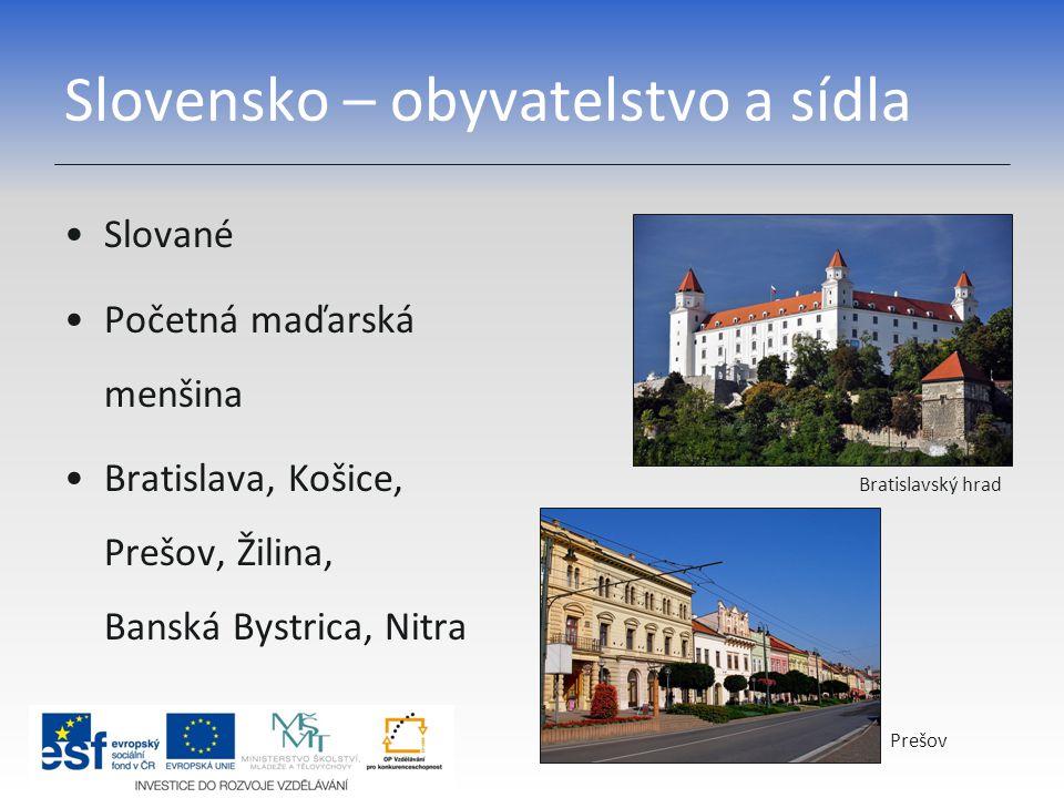 Slovensko – průmysl Strojírenství Hutnictví Chemický průmysl Železárny v Košicích Rafinérie v Bratislavě