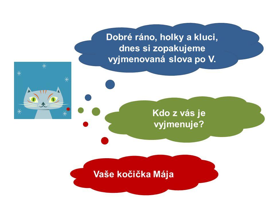 Mgr. Kateřina Fiedlerová Vyjmenovaná slova po V - opakování formou doplňování i/í, y/ý. 6. ročník
