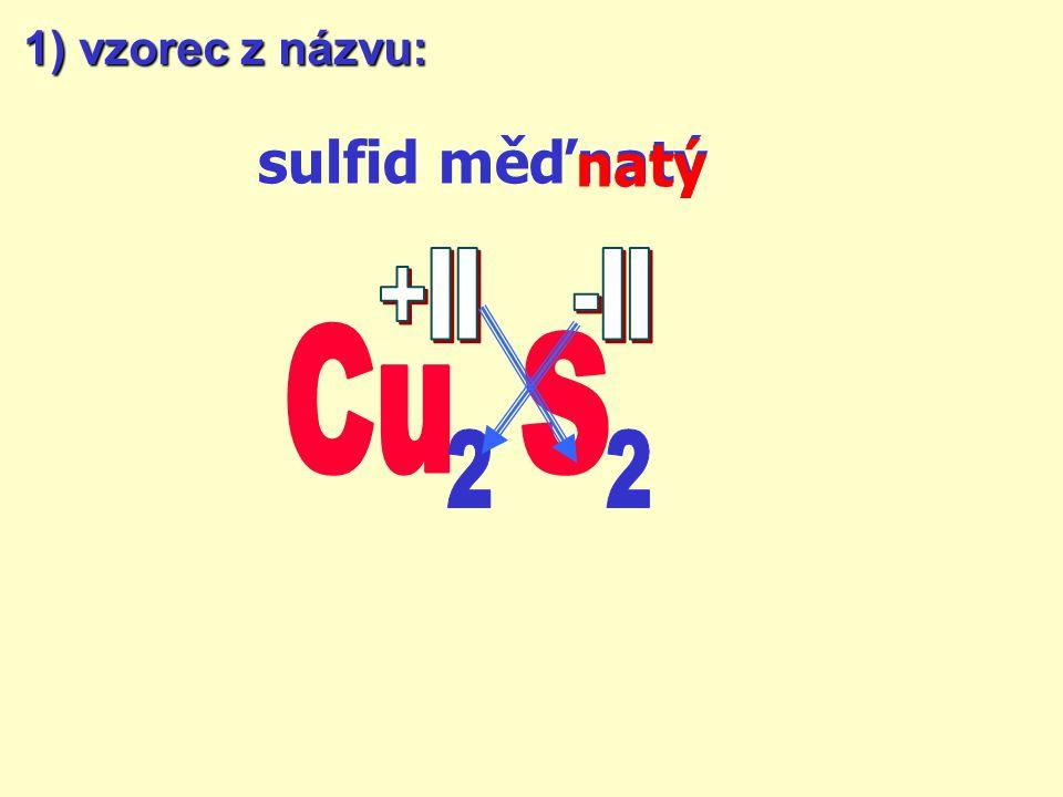 SULFIDY jsou dvouprvkové sloučeniny síry. oxidační číslo síry je vždy –II název sulfid oxidační číslo prvku podle přípony !tvorba názvů a vzorců je ob