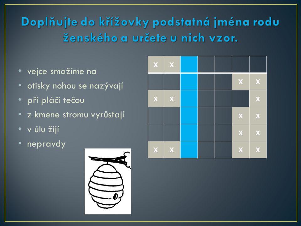 XX XX XXX XX XX XXXX vejce smažíme na otisky nohou se nazývají při pláči tečou z kmene stromu vyrůstají v úlu žijí nepravdy