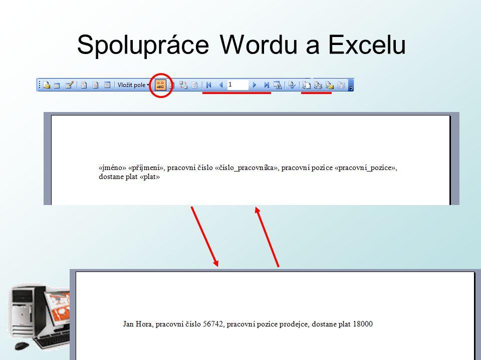 http://pcu3v.fjfi.cvut.cz Spolupráce Wordu a Excelu