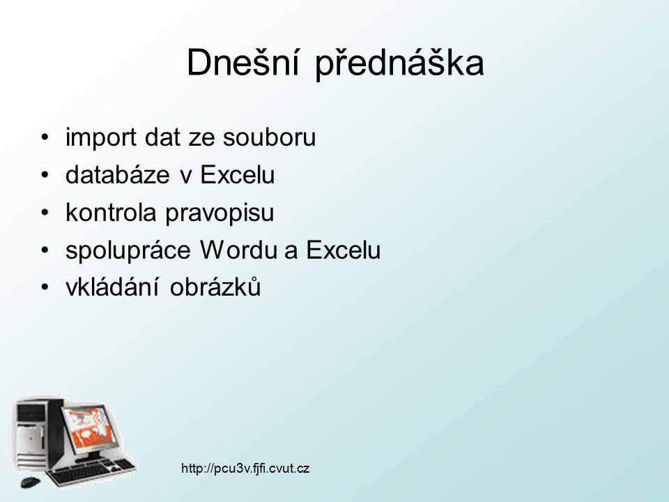 http://pcu3v.fjfi.cvut.cz Hledání slov hlavní nabídka: Úpravy  Najít…