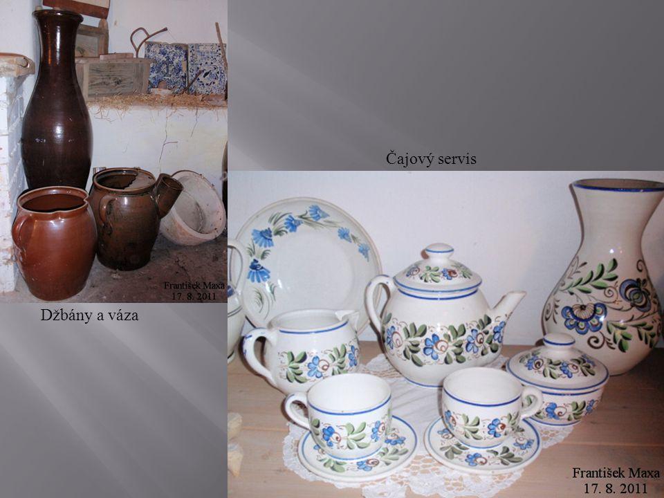 Čajový servis Džbány a váza