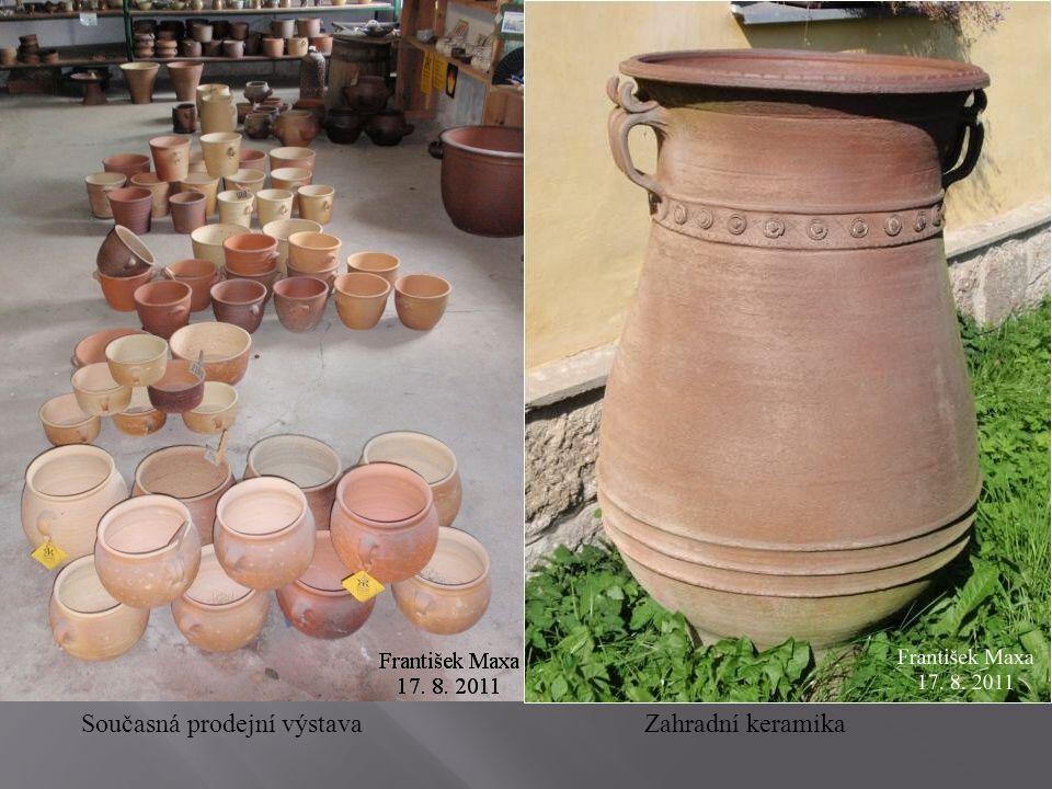 Současná prodejní výstavaZahradní keramika