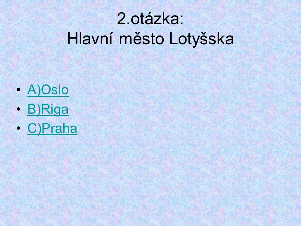 3.otázka: Kdo vyhrál MS v hokeji 2006 A)Česko B)USA C)Švédsko