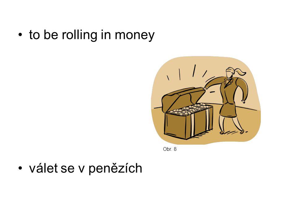 to be rolling in money válet se v penězích Obr. 8