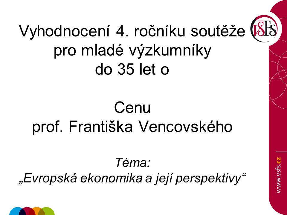 Vyhodnocení 4. ročníku soutěže pro mladé výzkumníky do 35 let o Cenu prof.