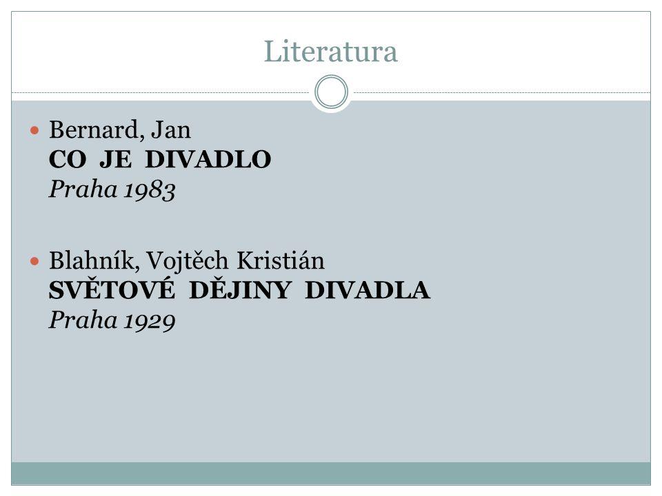Literatura Dílčí literatura k jednotlivým tématům Četba dramatických textů
