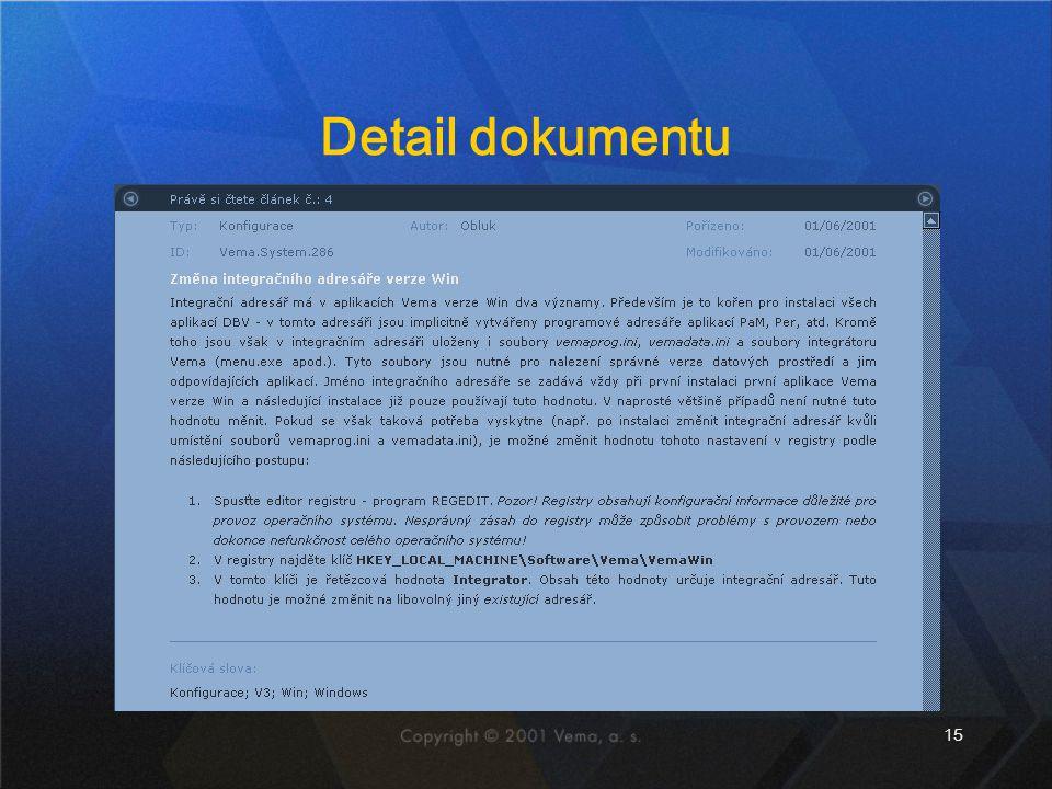 15 Detail dokumentu