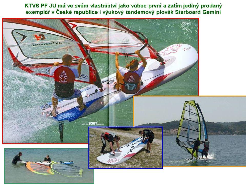 KTVS PF JU má ve svém vlastnictví jako vůbec první a zatím jediný prodaný exemplář v České republice i výukový tandemový plovák Starboard Gemini