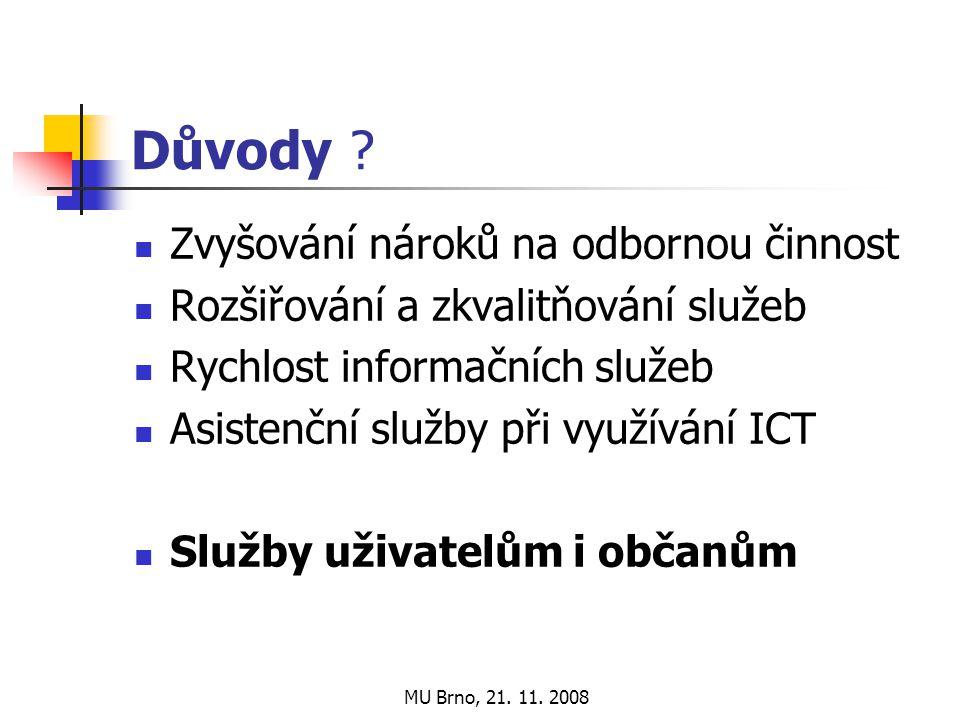 MU Brno, 21. 11. 2008 Důvody .