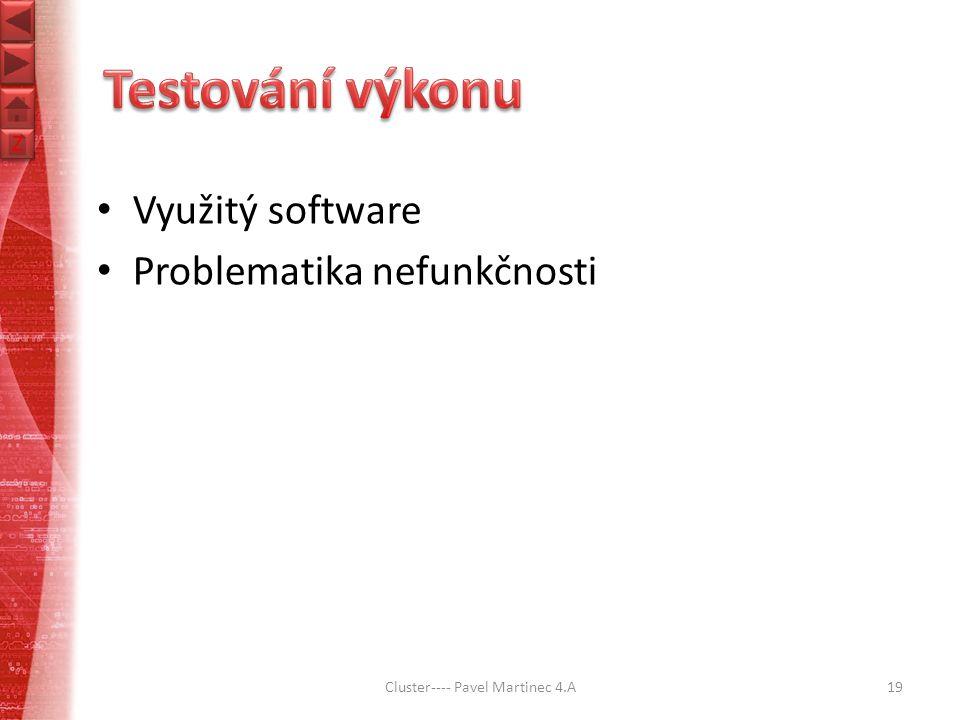 Z Z Využitý software Problematika nefunkčnosti Cluster---- Pavel Martinec 4.A19