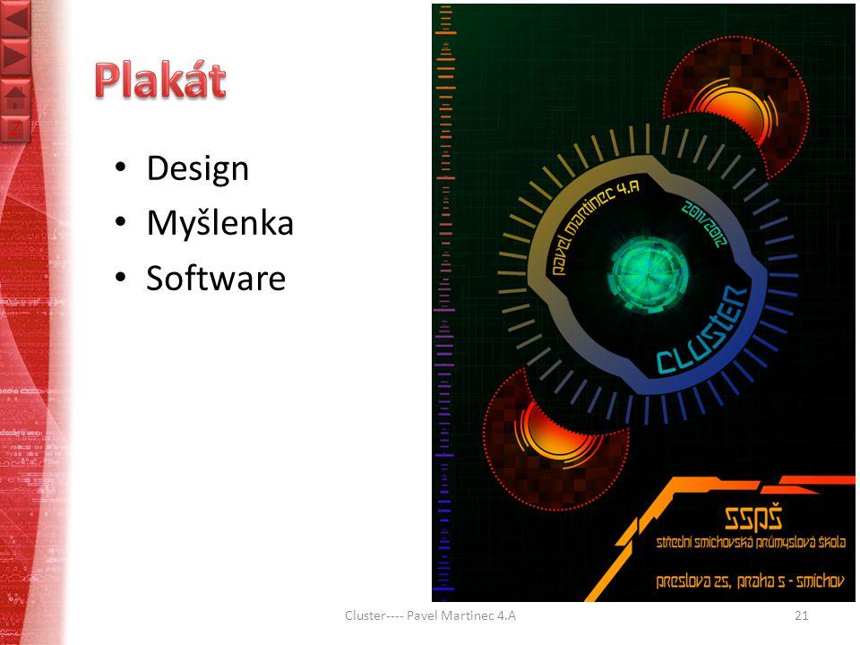 Z Z Cluster---- Pavel Martinec 4.A21 Design Myšlenka Software