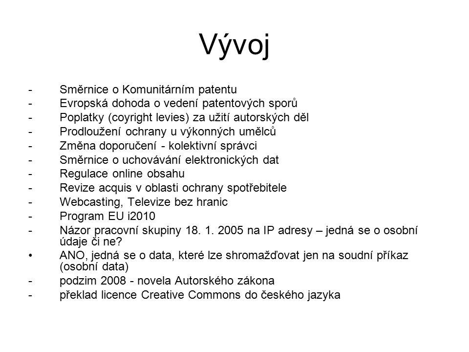 4 Autorské právo Dílo audiovizuální – video, film apod.