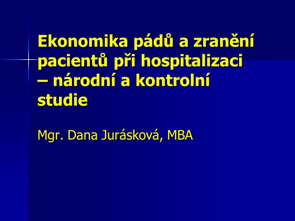 Ekonomika pádů a zranění pacientů při hospitalizaci – národní a kontrolní studie Mgr.