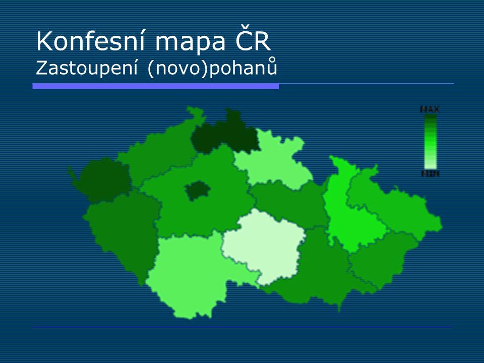 Konfesní mapa ČR Zastoupení (novo)pohanů