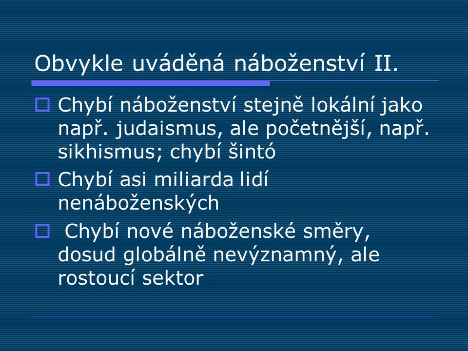 Konfesní mapa ČR Podíl husitů (CČSH) na celku obyvatelstva