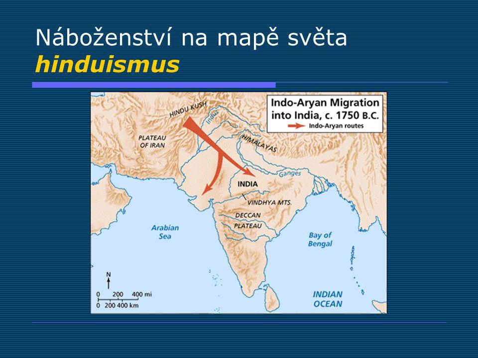 Náboženství na mapě světa buddhismus