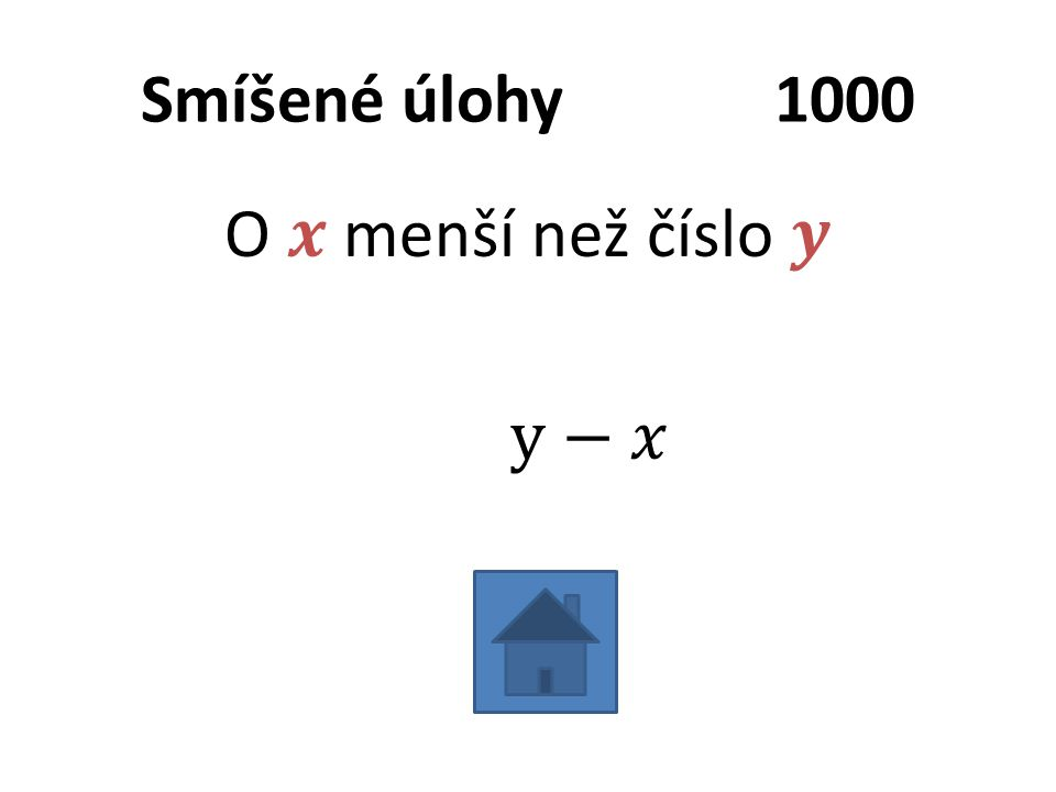 Smíšené úlohy1000