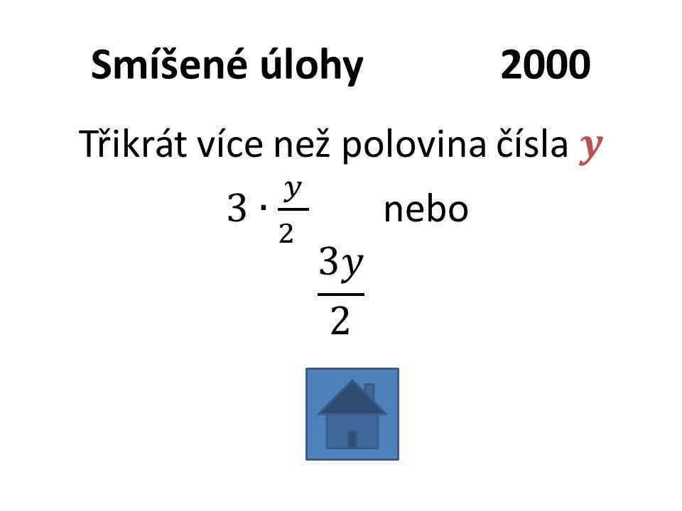 Smíšené úlohy2000