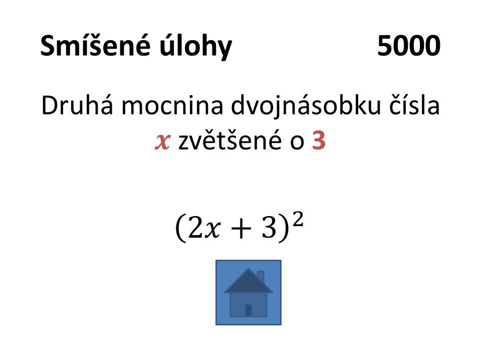 Smíšené úlohy5000
