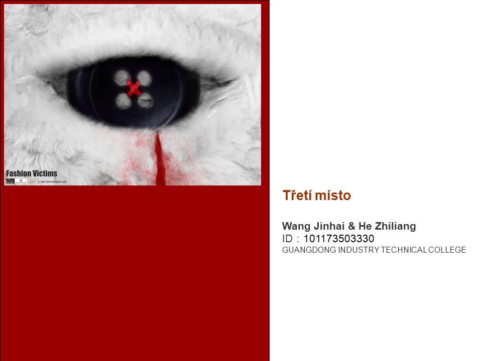 Třetí místo Wang Jinhai & He Zhiliang ID : 101173503330 GUANGDONG INDUSTRY TECHNICAL COLLEGE