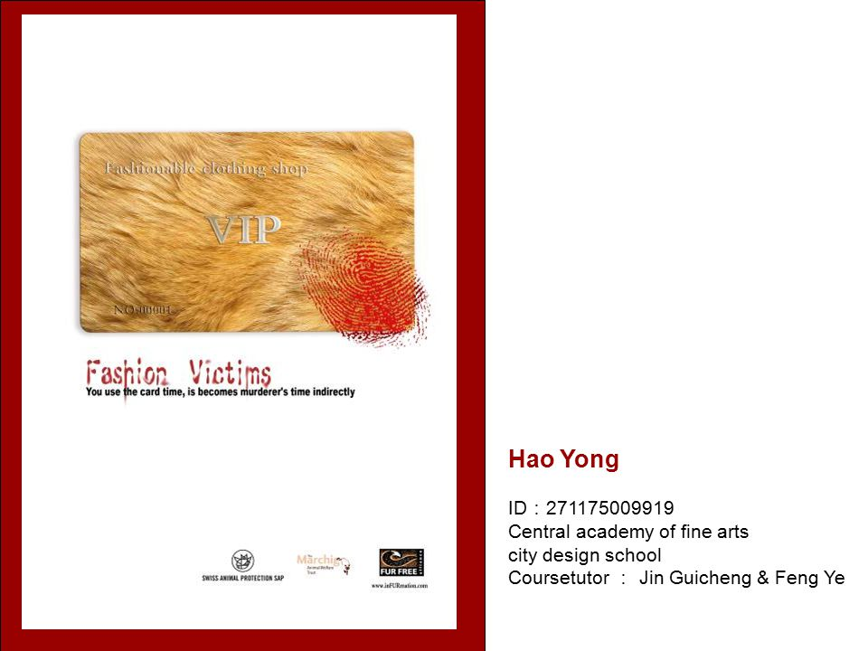 Hao Yong ID : 271175009919 Central academy of fine arts city design school Coursetutor : Jin Guicheng & Feng Ye