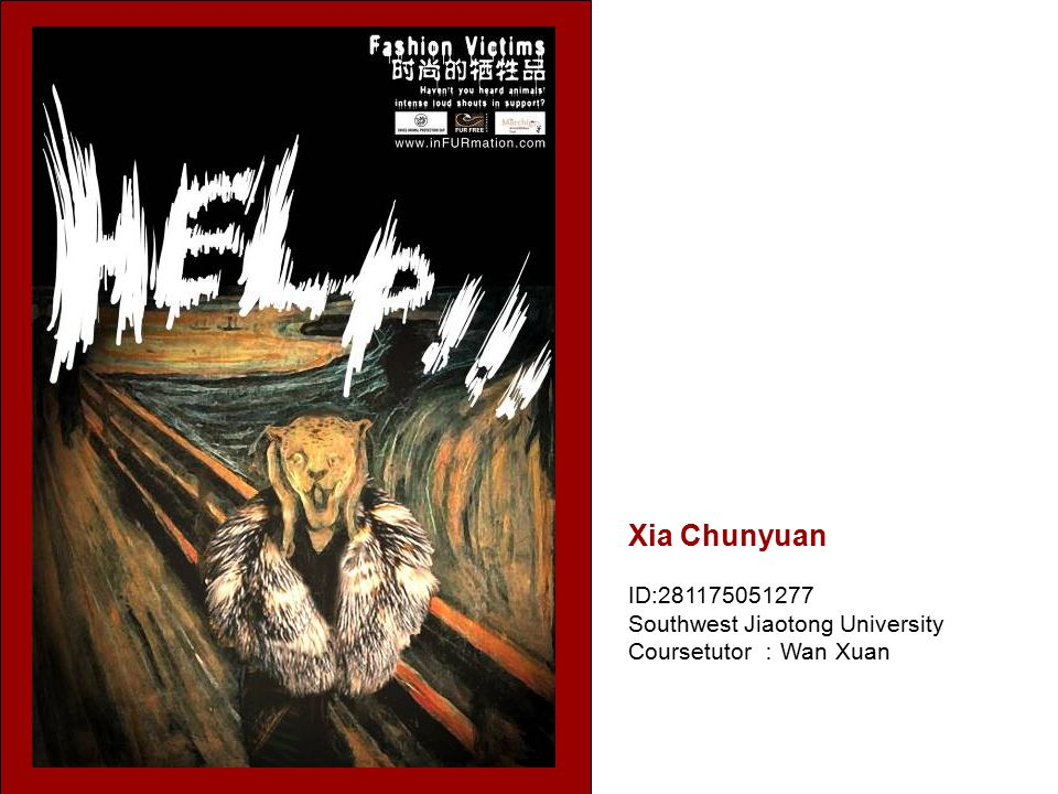 Xia Chunyuan ID:281175051277 Southwest Jiaotong University Coursetutor : Wan Xuan