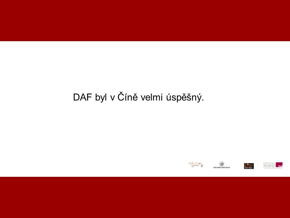 DAF byl v Číně velmi úspěšný.